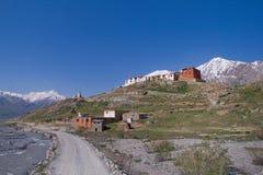 Gompa in Ringdom village. Gompa is the buddhist monastery. Ringdom village, Zanskar valley, Ladakh, India Stock Images