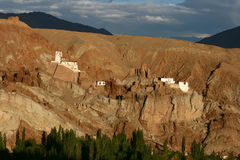 Gompa van Basgo, Ladakh Royalty-vrije Stock Foto's