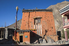 Gompa in the village of Kagbeni Royalty Free Stock Photography