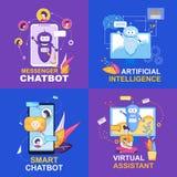 Gona Chatbot Sztuczna inteligencja Mądrze ilustracja wektor