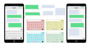 Gona telefonu komórkowego interfejs użytkownika ilustracji