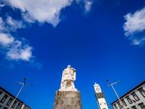 Goncalo Velho Cabral monument Stock Photos