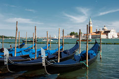 Gondalas in Venice Royalty Free Stock Photos