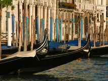 Gondalas, Venice. Gondolas in Venice royalty free stock photos