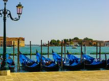 Gondalas in Venice, Italy Royalty Free Stock Photography