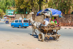 Gondar city traffic Stock Photography