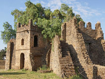 Gondar, Ethiopia, Africa. Ruins of the palaces of Gondar, Ethiopia, Africa Royalty Free Stock Photo