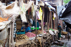 Gondar stalls. Many stalls in the poor market of gondar in ethiopia Stock Images
