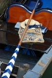 Gondel en hoed, Venetië Stock Foto's