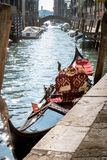 Gondel, Kanaal van Venetië, Italië Stock Afbeeldingen