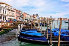 Gondel ` s in Venetië, Italië royalty-vrije stock foto's