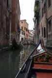 Gondel um Venedig Lizenzfreies Stockfoto