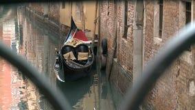 Gondel in Venedig stock video footage