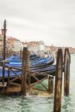 Gondel in Venedig in Italien Stockbild