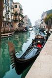 Gondel in Venedig, Italien lizenzfreies stockfoto