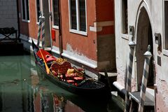 Gondel in Venetië, Italië Royalty-vrije Stock Afbeeldingen