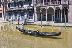 Gondel-venetianisches Boot Venedig Italien Mini Tiny Lizenzfreie Stockfotos