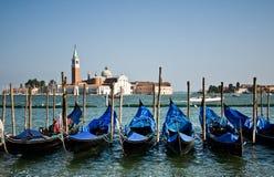 Gondelboote, Venedig stockbild