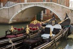 Gondelen Venecia Stockfoto