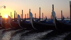 Gondeln an der Dämmerung Venedig, Italien stock video footage
