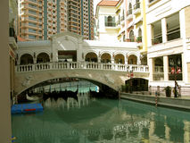 Gondeln, Mall Venedigs Grand Canal, McKinley-Hügel, Taguig, Philippinen Lizenzfreie Stockbilder