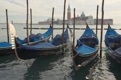 Gondeln. Venedig Stockfotografie