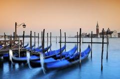 Gondeln, Venedig Stockbild
