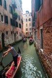 Gondeln in Venedig Stockfotografie