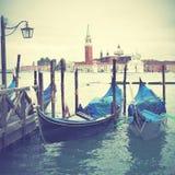 Gondeln in Venedig Stockfoto