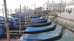 Gondeln Venedig stock video