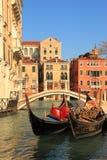 Gondeln (Venedig, Italien) Stockbilder