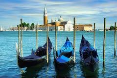 Gondeln in Venedig, Italien Stockfotos