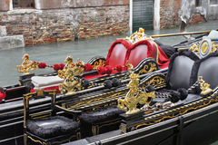 Gondeln in Venedig, Italien Stockbilder