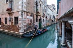 Gondelrit door de Kanalen van Venetië Royalty-vrije Stock Fotografie