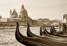 Gondels bij San Marco, Venetië stock foto