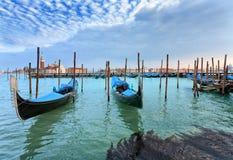 Gondels. San Giorgio Maggiore. Venetië. Royalty-vrije Stock Fotografie