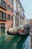 Gondels in Venetië royalty-vrije stock foto