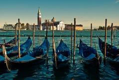 Gondels in Venetië royalty-vrije stock afbeelding