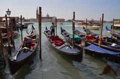 Gondels in Venetië Stock Afbeelding
