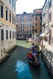 Gondels in Venetië Stock Foto's
