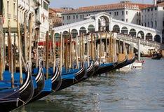 Gondels in Venetië stock foto
