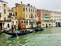 Gondels in Venetië, Italië royalty-vrije stock foto