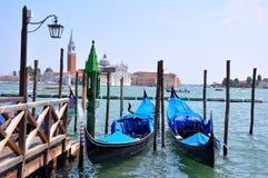 Gondels in Venetië, Italië Stock Fotografie