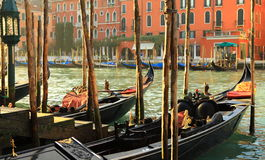 Gondels (Venetië, Italië) Royalty-vrije Stock Afbeeldingen