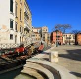 Gondels (Venetië, Italië) Stock Afbeeldingen