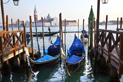 Gondels in Venetië, Italië Stock Afbeelding