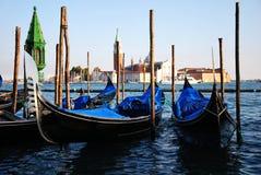 Gondels in Venetië Italië Stock Fotografie