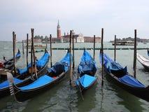 Gondels in Venetië, Italië Royalty-vrije Stock Foto's