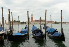 Gondels in Venetië, Italië Stock Foto's