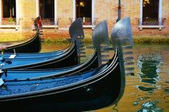Gondels, Venetië, Italië Stock Foto